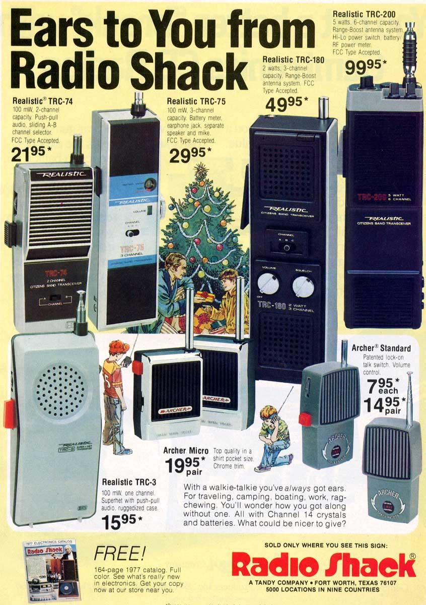 1976 Christmas Ad - Radio Shack